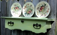 Plate Display Wall Art Up Cycled Furniture