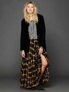Plaid Flannel Maxi Skirt - Maxi Grunge!