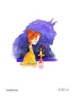 Beauty and the beast watercolor disney disney, disney, dream Disney Belle, Disney Love, Disney Magic, Disney And Dreamworks, Disney Pixar, Walt Disney, Disney Mignon, Belle Beauty And The Beast, Beauty Beast