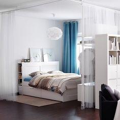 Chambre Brimnes - IKEA - room dividing curtains!