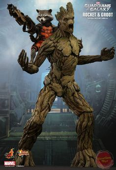 """MMS254 – 1/6th scale """"Guardians of the Galaxy"""" Rocket"""