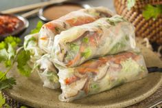 Soo good (and easy) Healthy Spring Rolls w/ Dipping Sauce