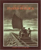 Perfect Picture Book The Mysteries of Harris Burdick by Chris Van Allsburg ages 4 and up http://bookforthatkids.blogspot.com/2013/10/ppbf-mysteries-of-harris-burdick.html