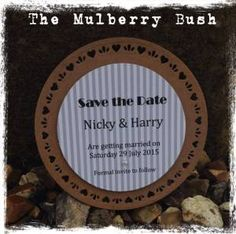 The Mulberry Bush, wedding, save the date, kraft, grey, wedding stationery