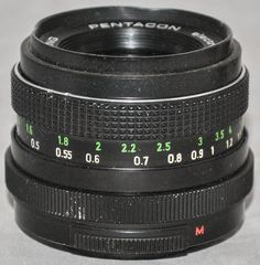 PENTACON electric 1.8/50 MULTI COATING SLR Camera Lens with M42 Screw Fit