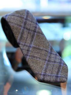 plaid wool tie.
