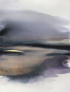 Gran acuarela  Original arte contemporáneo Arte paisaje