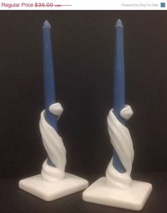 Westmoreland - Milk glass candle holders