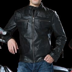3e5186cdb96 harley motorcycle rider jacket mens leather jacket man s genuine cowhide  embroidery skull leather jacket slim - Online Shopping in USA  Fashion