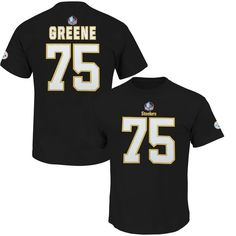 Joe Greene Pittsburgh Steelers Majestic Hall of Fame Eligible Receiver II Big & Tall Name & Number T-Shirt - Black
