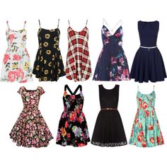 Summer dresses by kiayabond on Polyvore featuring Louche, Yumi, Closet, Rare London and AX Paris