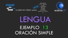 academia jaf lengua ejemplos oracion simple - YouTube