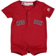 Boston Red Sox Majestic Newborn & Infant Alternate Cool Base Romper Jersey - Scarlet - $34.99
