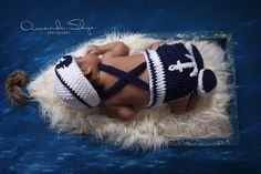 Sailor/Nautical Baby photo prop set by EmiJessCrochet on Etsy
