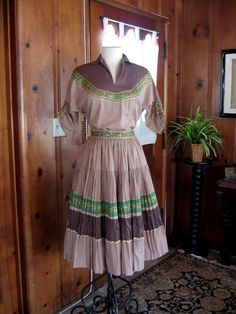 1950s Squaw Dress /  Vintage 50s Squaw Patio by calivintage54, $110.00