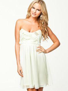Chiffon Dress - Elise Ryan - Ivory - Feestjurken - Kleding - Vrouw - Nelly.com