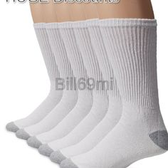 182ca16ad Gildan Men s Big and Tall Crew Socks 10 Pairs White Shoe Size  12-15
