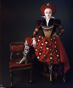 I believe this is Helena Bonham Carter as the Red Queen in Tim Burton's ALICE IN WONDERLAND (2010).