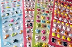 Sheet of stickers kawaii puffy points by PlumeRose on Etsy