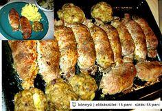 Brassói göngyölt hús Pork Recipes, Cooking Recipes, Hungarian Recipes, Pork Dishes, Food Hacks, Bacon, Food And Drink, Healthy Eating, Favorite Recipes