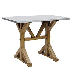 Perfect game room table - Tatum Trestle Counter Table with Zinc Top
