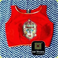 KATHAKALI CROP # BRIGHT RED # FESTIVE COLLECTION # JUST BLOUSES BY VAISHALI SHAH