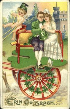 Bride & Groom Vintage St. Patrick's Day Card