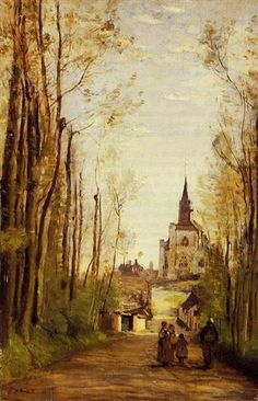 Marissal, Path to the Front of the Church - Camille Corot