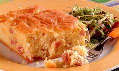 Torta de presunto e queijo de liquidificador | Tortas e bolos > Receitas de Torta de Liquidificador | Receitas Gshow