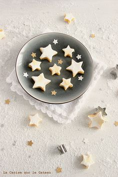 Sugar cookies - white Christmas stars