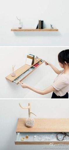 100 Fantastic Creative Hidden Shelf Storage Ideas Worth to apply in Small House - Furniture Daily Hidden Shelf, Hidden Storage, Storage Shelves, Storage Ideas, Shelving, Dvd Storage, Storage Design, Small Storage, Multifunctional Furniture
