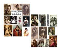 Gypsy Girls Digital Collage Sheet by geckogalz on Etsy