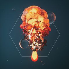 5th series of my daily renders. World Machine, Zbrush, Xparticles.