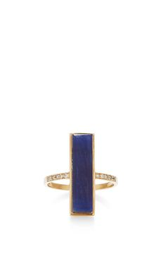 Neverending Saphire Vertical Ring.  14k Gold  Sapphire 8.25ct  Diamonds 0.8ctw