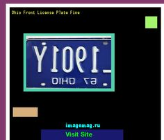 Ohio front license plate fine 182626 - The Best Image Search