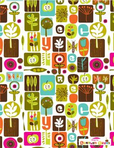 Cool Pattern by Carolyn Gavin. I really like the website of the studio where this is presented: Lilla Rogers Studio.
