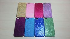 For Apple iPhone 5 / 5s Glitter Hard Plastic Snap On Back Case