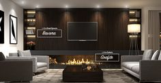 Para sua sala de estar, os padrões de MDF Baviera e Grafite. #MDF #decoraçãoMDF #decoração #DesignInteriores #padrõesMDF #homedecor #decoração #saladeestar #peçasMDF #saladeTV