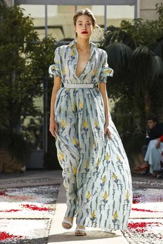 Fashion Trend for SS18: Bohemian floral. Romantic chic floral prints at Luisa Beccaria Spring Summer 2018 MFW.