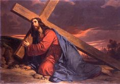 Christ suffered on the cross for our sins.