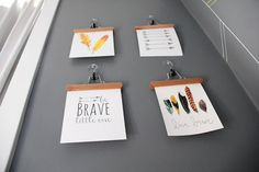 Be Brave Nursery Art