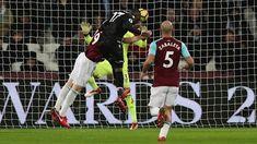 Benteke scores against West Ham.