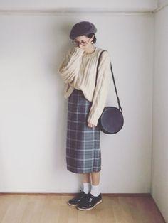 ゆるニットとタイトスカート☆ スカートはめっちゃ久しぶり…ww 見に来て頂きありがとうございます�