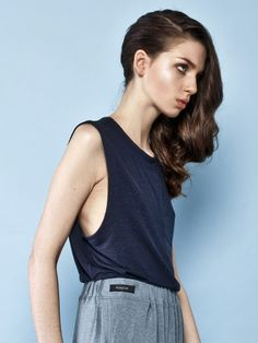 NAVY TANK TOP Basic top Good Times Collection S/S 2014 by Keyce Basic Tops, Good Times, Street Wear, Street Style, Navy, Tank Tops, Womens Fashion, Collection, Hale Navy