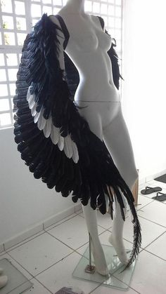 Burning Man Real Feather Wings Large Theatrical Hunger Games Cosplay Halloween Carnival Fairy / Dragon / Angel Adult wings on SALE, Flexible Cosplay Make-up, Character Inspiration, Character Design, Mode Alternative, Halloween Karneval, Fantasy Costumes, Burning Man, Costume Design, Hunger Games