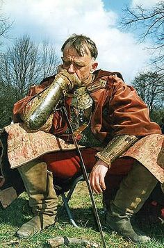 ~J   War is never easy for a righteous man ...! A man at war searches in his soul.  Polish noble/hussar.