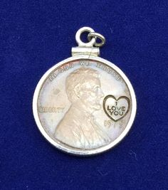 Vintage 1975 I Love You Encircled By Heart Penny Pendant Collectible | Jewelry & Watches, Vintage & Antique Jewelry, Costume | eBay!