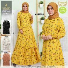 Pusat Grosir Baju Wanita | Baju Gamis Remaja Muslim, Dresses With Sleeves, Black And White, Long Sleeve, Model, Hijab, Surabaya, Jakarta, Dan