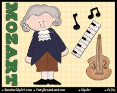Mozart Digital Clip Art  Commercial Use Graphic by ResellerClipArt, $1.50