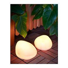 SOLVINDEN LED solcellsbelysning golvlampa, stenformad grå - - - IKEA